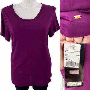 Escada Perfect length tee-shirt XL purple top